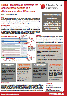 View A4 size of our iConference poster