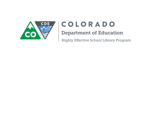 Colorado-2016HighlyEffectiveSchoolLibraryProgramRubric