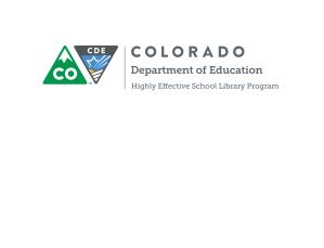 Colorado-2016HighlyEffectiveSchoolLibraryProgramRubric